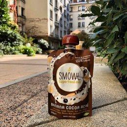 🌱 🍫 🍌.. SMOWL Cacao Banane Açaì en mode parisien 😎. Il débarque chez @bio_c_bon ! . #smowl #gosmowl #biocbon #paris #sain #snack #healthy #snacking #sunshine #weekend#energy