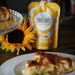 🥧 💚 Une délicieuse recette d'Apple pie de @coupsdefood avec SMOWL Mangue Passion comme base 💚 📸 @coupsdefood . Découvrez la recette sur ce très beau compte Instagram . #recette #smowl #sain #encas #snack #healthy #applepie #recipe #mango